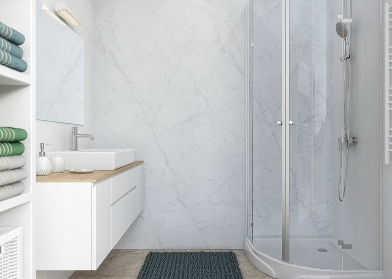 aranżacja 1 Carrara Marble
