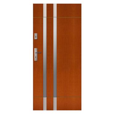 Drzwi zewnętrzne drewniane płytowe CAL Florian kolekcja Rycerska