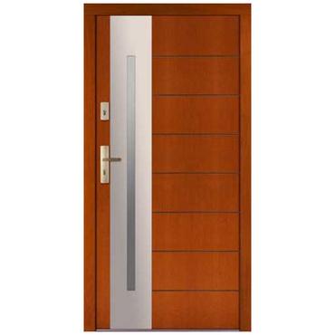 Drzwi zewnętrzne drewniane płytowe CAL Longinus kolekcja Rycerska