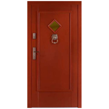 Drzwi zewnętrzne drewniane płytowe CAL Garbaś kolekcja Rycerska