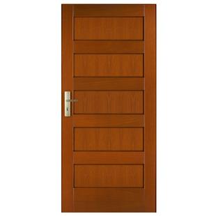 Drzwi zewnętrzne drewniane płycinowe CAL Malinów kolekcja Klasyczna