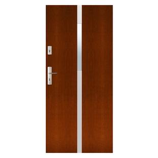 Drzwi zewnętrzne drewniane płytowe CAL Skarbek kolekcja Rycerska