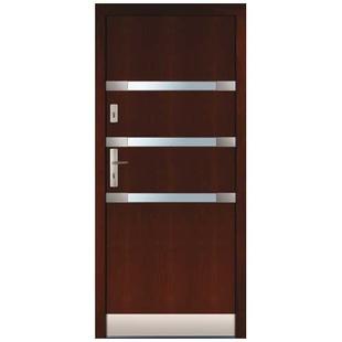 Drzwi zewnętrzne drewniane płytowe CAL Mszczuj kolekcja Rycerska