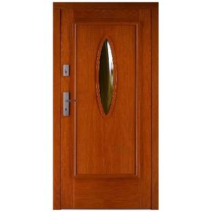 Drzwi zewnętrzne drewniane płytowe CAL Okrągłe kolekcja Rycerska