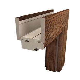 Ościeżnica drewniana regulowana bezprzylgowa Duo Lamistone/Silkstone