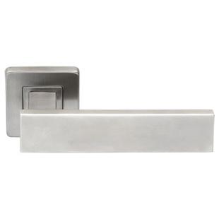 Klamka ze stali nierdzewnej INOX Qlard szyld kwadratowy
