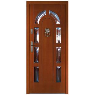 Drzwi zewnętrzne drewniane płycinowe CAL Śnieżka kolekcja Klasyczna