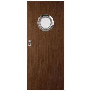 Skrzydło drzwiowe bezprzylgowe fornirowane Standard Bulaj Natura stalowy